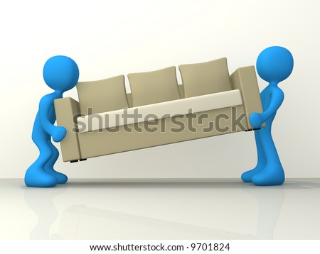 Movers - stock photo