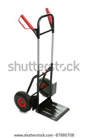 Movers dolly cart isolated on white background - stock photo