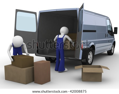Movers (men at work series) - stock photo