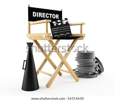 Movie background - stock photo