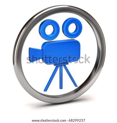Movie Camera icon - stock photo