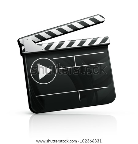 Movie clap bitmap copy - stock photo