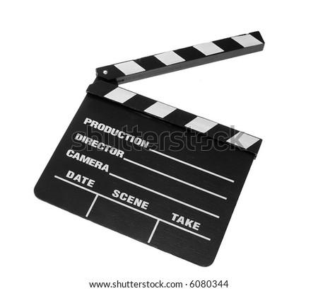 Movie Clapper Board - stock photo