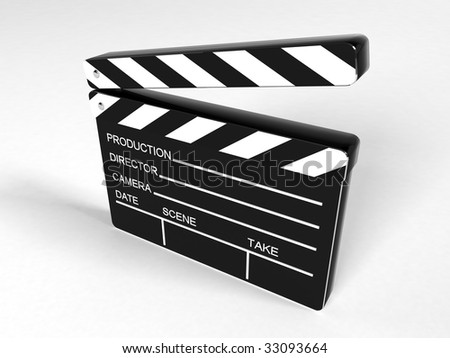 Movie clapper board - 3d rendering