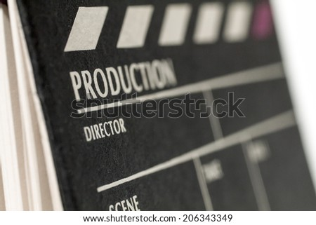 Movie Clapper Board. Macro