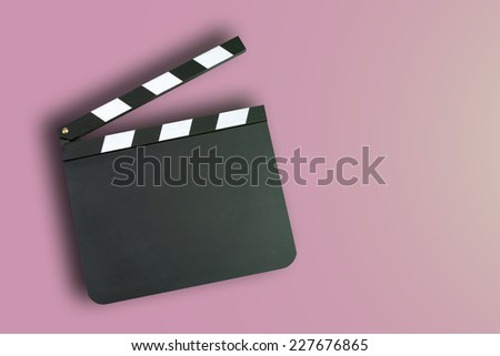 Movie clapper board with copy space - stock photo