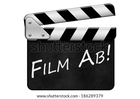 movie clapper, clapperboard, Film Ab - stock photo