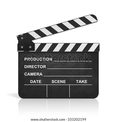 movie clapper 3d illustration - stock photo