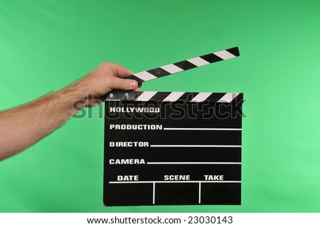 movie clapper on chroma