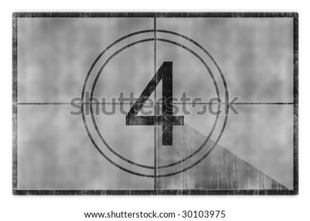 movie countdown - stock photo