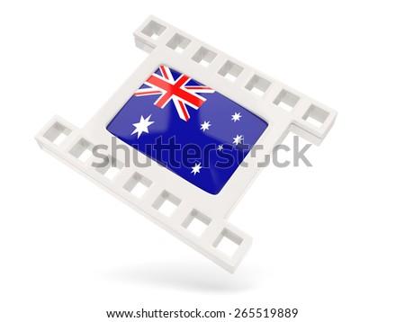 Movie icon with flag of australia isolated on white - stock photo