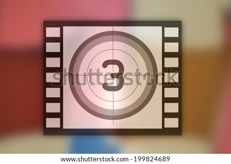 Movie icon with multicolored background