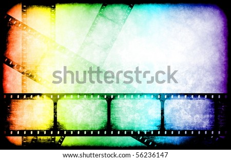 Movie Industry Highlight Reels as a Abstract - stock photo