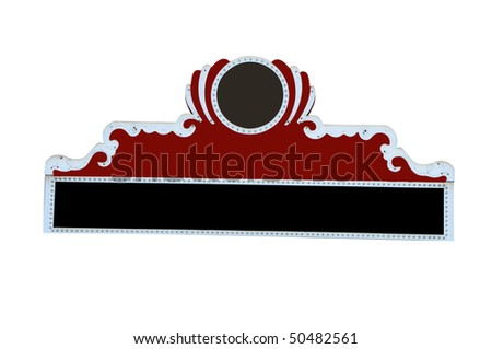 Movie marquee isolated on white background with clipping path. - stock photo