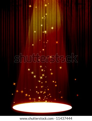 Movie or theater curtain - stock photo