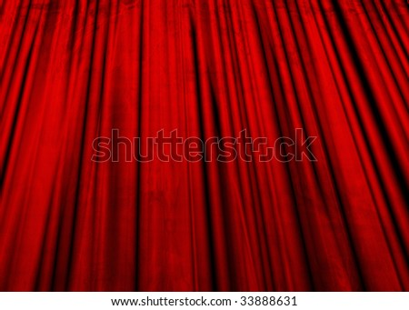 Movie or theater curtain with a grunge touch