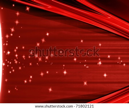 movie or theater curtain with a spotlight - stock photo