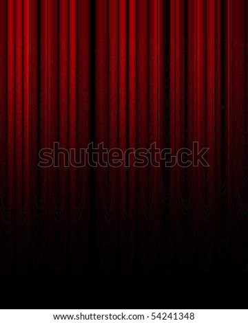 Movie or theater curtain with soft shades in it - stock photo