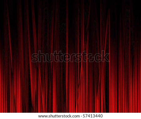 Movie or theater curtain with soft shades on it - stock photo