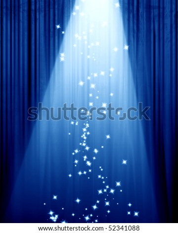 Movie or theater curtain with some glitters on it