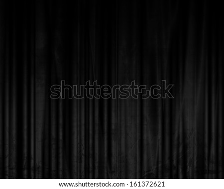 movie or theater curtains with some folds in it - stock photo