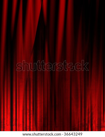 Movie or theater drapes with soft shades