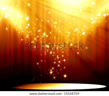 Movie or theatre curtain - stock photo