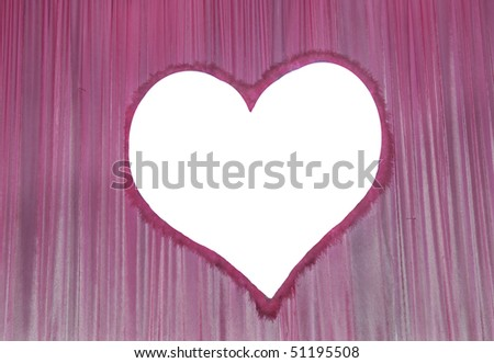 Movie or theatre curtain with heart shape - stock photo