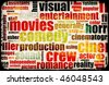 Movie Poster of Film Genres Vintage Background - stock vector