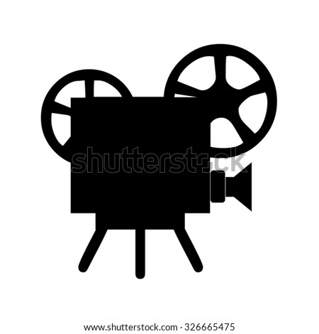 Movie projector and cinema films - stock photo