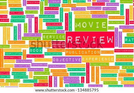 Movie Review Word Cloud as a Concept