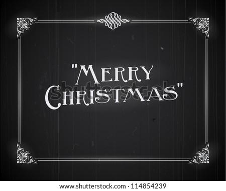 Movie still screen - Merry Christmas - JPG Version - stock photo