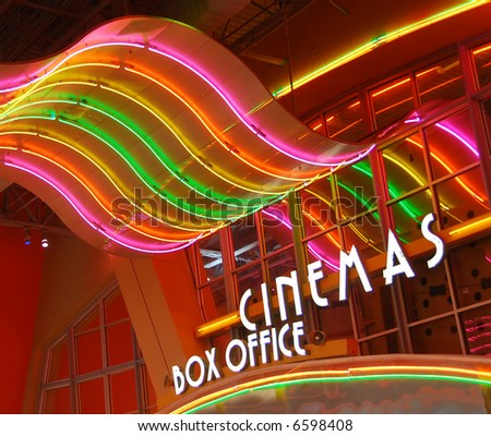 Movie theater box office - stock photo