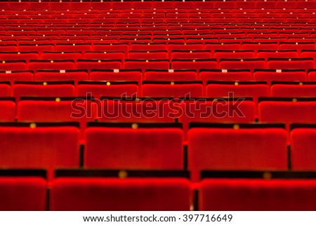 movie theater empty hall with seats