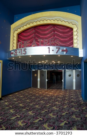 Movie theater entrance Movie theater in downtown San Francisco California