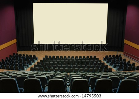 Movie theater with large screen