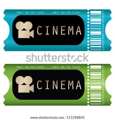 movie ticket - stock photo