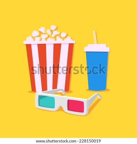 Movie time - stock photo