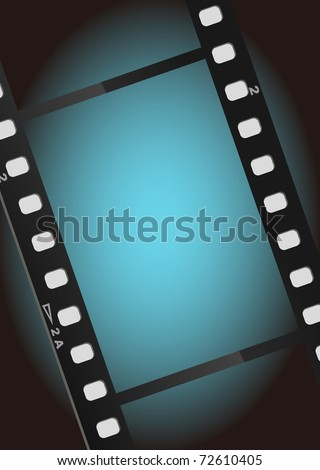 movies film blue light background - stock photo