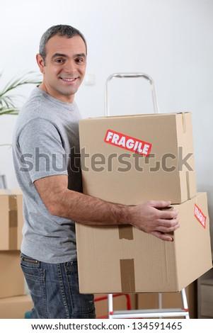 Moving - stock photo