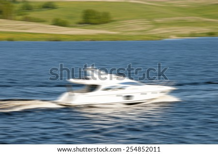 Moving boat motion abstraction background.Specially blurred photo - stock photo
