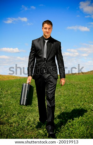 Moving closer toward his objective. - stock photo