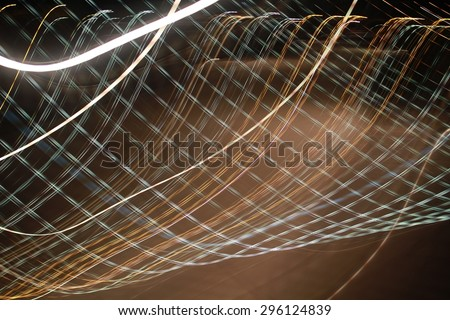 moving colored lights abstract background - stock photo