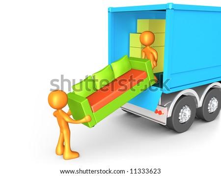Moving Company - stock photo