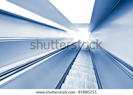 Moving elevator in abstract tunnel