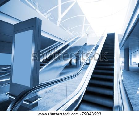 Moving escalator to the heaven concept - stock photo