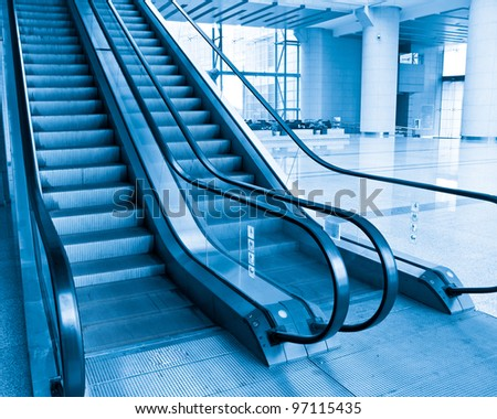 Moving escalator to the heaven concept