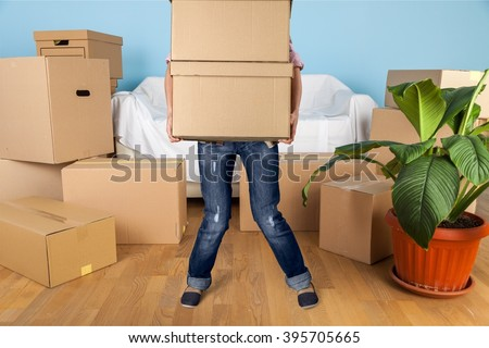 Moving House. - stock photo