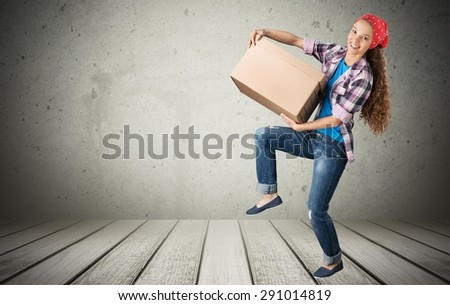 Moving House, Box, Moving Office. - stock photo