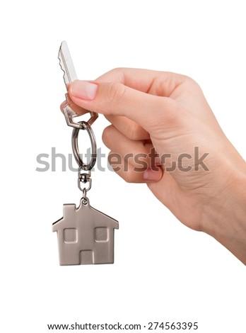 Moving House, House, Key. - stock photo